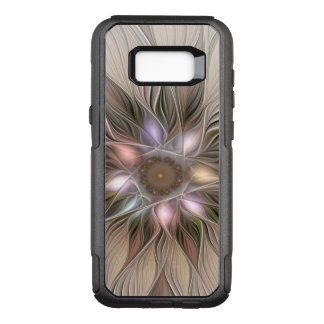 Joyful Flower Abstract Beige Brown Floral Fractal OtterBox Commuter Samsung Galaxy S8+ Case