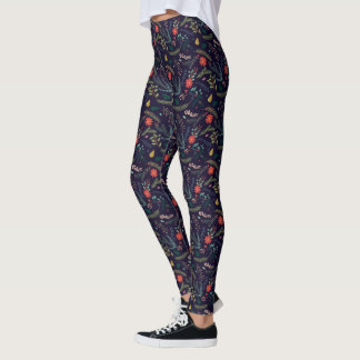 Joyful Foliage | Holiday Patterned Leggings