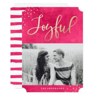 Joyful Gold | Holiday Photo Card