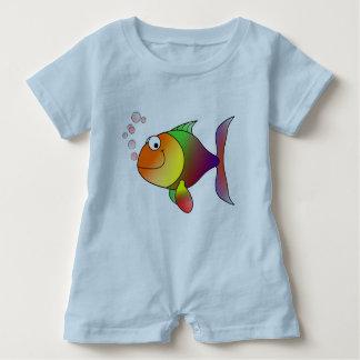 Joyful Goldfish in Sea Baby Romper