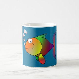 Joyful Goldfish in Sea Coffee Mug