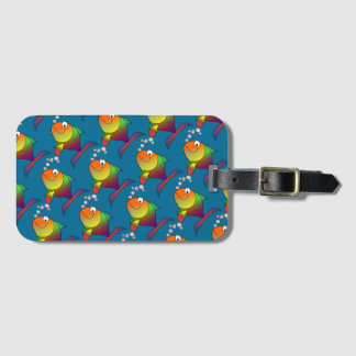 Joyful Goldfish in Sea Luggage Tag