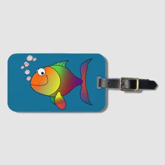 Joyful Goldfish in Sea Luggage Tag