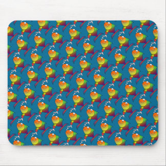 Joyful Goldfish in Sea Mouse Pad