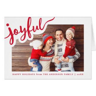 Joyful   Happy Holidays Card