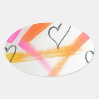 Joyful Heart Oval Sticker