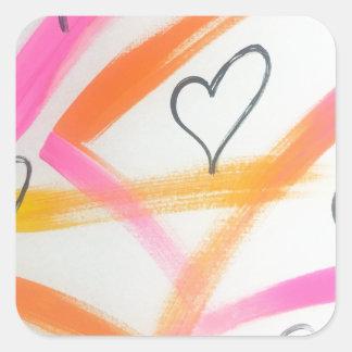 Joyful Heart Square Sticker