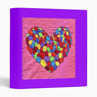 Joyful Heart Vinyl Binder