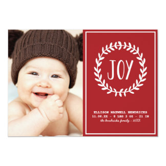 Joyful Hearts | Holiday Birth Announcement