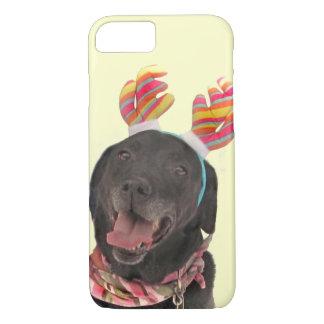 Joyful Holiday Black Labrador Retriever Dog iPhone 8/7 Case