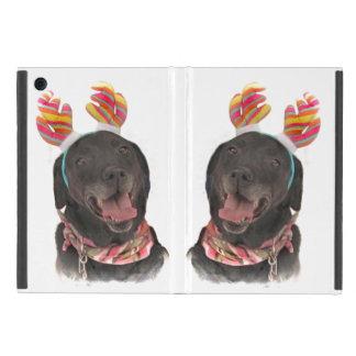 Joyful Holiday Black Labrador Retriever Dogs iPad Mini Cover