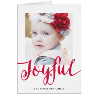 Joyful | Holiday Photo Greeting Card
