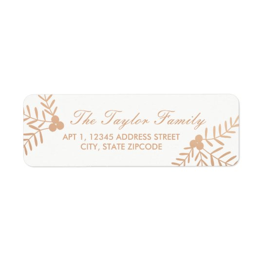 Joyful Holiday Return Address Label