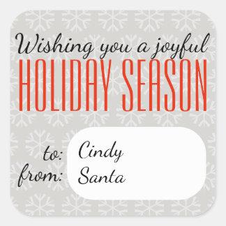 Joyful Holiday Season - Holidayzfordayz Square Sticker
