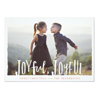 Joyful Joyful Hand Lettered Christmas Card