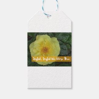 Joyful, Joyful, We Adore Thee - Botanical Flower Gift Tags