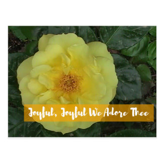 Joyful, Joyful, We Adore Thee - Botanical Flower Postcard