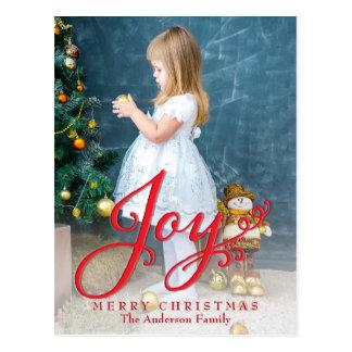 Joyful Merry Christmas Holiday Photo Postcard