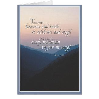 Joyful Mountains Religious Congratulations Card