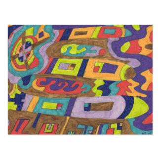 Joyful Noise, abstract Postcard