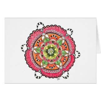 Joyful Noise Mandala Notecard