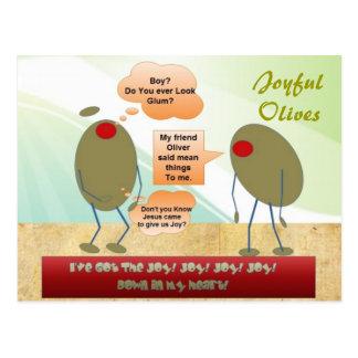 Joyful Olives Postcard