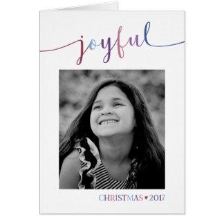 Joyful - Photo Christmas Card