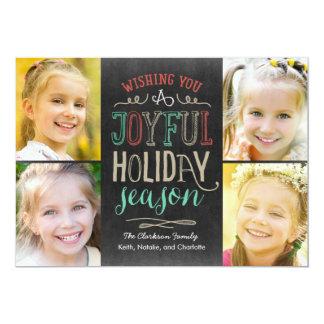 "Joyful Season Holiday Photo Card 5"" X 7"" Invitation Card"