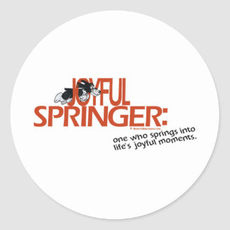 Joyful Springer Defined Classic Round Sticker