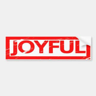 Joyful Stamp Bumper Sticker