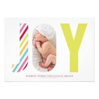 "Joyful Stripes | Bright Green 5"" X 7"" Invitation Card"