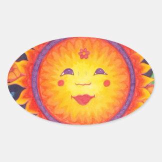 Joyful Sun Full Size Oval Sticker
