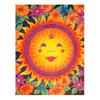 Joyful Sun Full Size Postcard