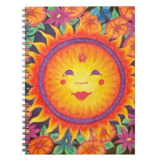 Joyful Sun Full Size Spiral Notebook