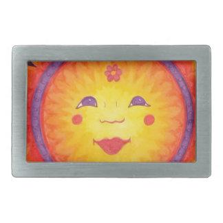 Joyful Sun Rectangular Belt Buckle