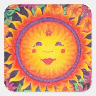 Joyful Sun Square Sticker