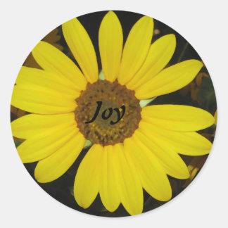 Joyful Sunflower Classic Round Sticker