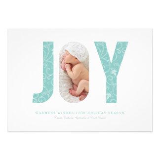 "Joyful Swirls | Light Blue 5"" X 7"" Invitation Card"