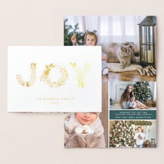 Joyful Type | Christmas Photo Gold Foil Card