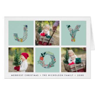 Joyful Type | Folded Holiday Photo Card