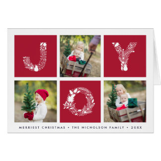 Joyful Type | Folded Holiday Photo Card