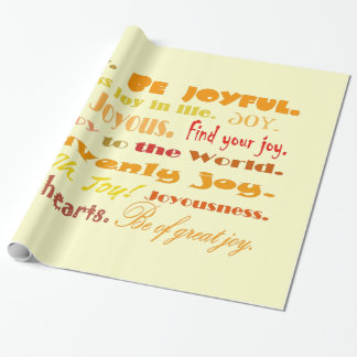 joyful words wrapping paper