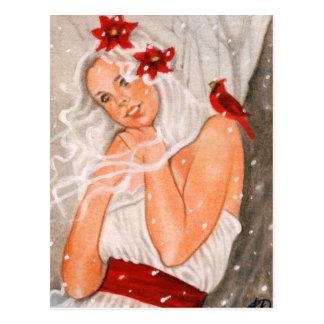 Joyneux Noel Fairy Postcard