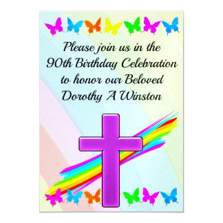 JOYOUS 90TH BIRTHDAY INVITATION