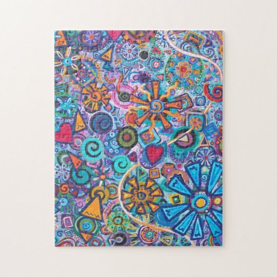 Joyous Abstract Painting Puzzle