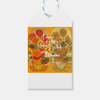 Joyous and sad  sunflowers gift tags
