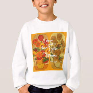 Joyous and sad  sunflowers sweatshirt