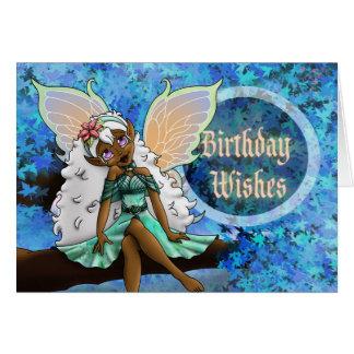 """""""Joyous"""" Birthday Card, Fairy Card"""