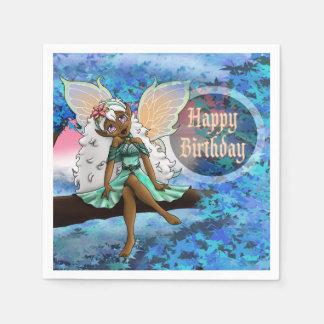 Joyous Birthday Paper Napkins, Fairy Paper Napkins