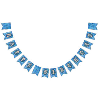 Joyous Birthday Swallowtail Party Bunting Banner